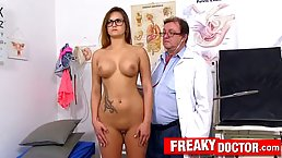 Barbara Bieber is a big titted brunette with glasses, who likes to get her pussy fingerfucked
