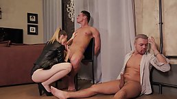 Whiteneko is cuckolding her partner with random guys and then having mmf threesomes, all night